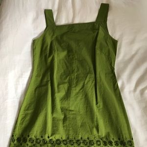 Gap bright green eyelet dress.